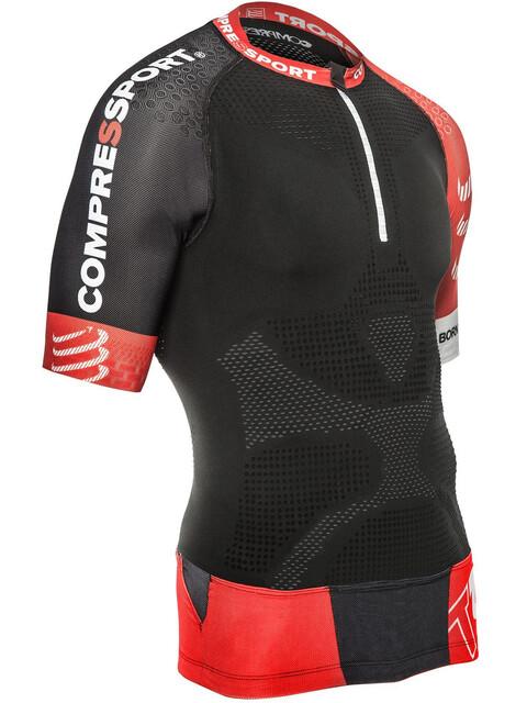 Compressport Trail Running V2 Hardloopshirt korte mouwen Heren zwart